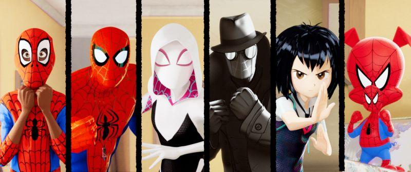 Versões alternativas do Teioso no filme Homem-Aranha: No Aranhaverso